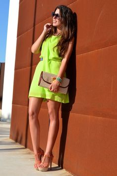 Elegant neon party dress ...wedding outfit?!