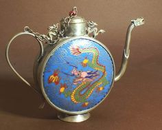 Oriental Products: Magical Brass Chinese Dragon Chinese Teapot