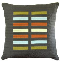 Check out our contemporary pillows selection for the very best in unique or custom, handmade pieces from our shops. Sewing Pillows, Diy Pillows, Pillow Ideas, Handmade Cushions, Patchwork Pillow, Quilted Pillow, Modern Throw Pillows, Decorative Throw Pillows, Contemporary Duvet Covers