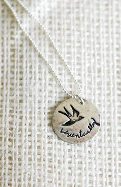 Eventually Infertility Necklace with Bird I love this message for infertility and life in general. Everything will be well and right, Eventually.