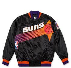 Starter black label satin jacket - Phoenix Suns (black)