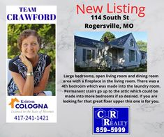 Missouri Real Estate, Large Bedroom, Fixer Upper, Laundry Room, Link, Laundry Rooms, Laundry