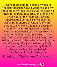 I want ~ Alignment Affirmations