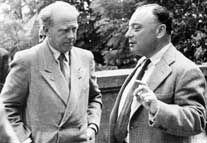 Werner Heisenberg und Wolfgang Pauli, 1950.