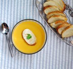 Carrot, ginger, coconut soup