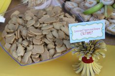 Lions and Tigers and Bears at a  Wizard of Oz Party #wizardofoz #partyfood