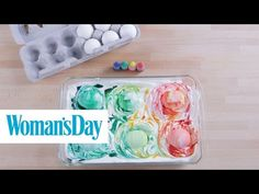 How to Make Marbled Easter Eggs With Cool Whip - How to Dye Easter Eggs With Shaving Cream
