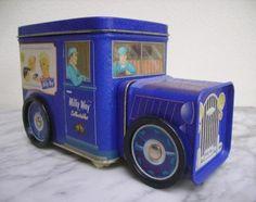 ≥ Blik in de vorm van vrachtwagentje van Milky Way - Blikken - Marktplaats.nl