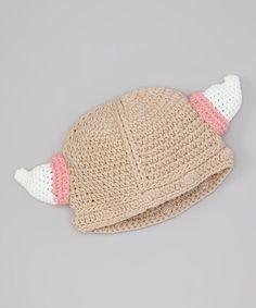This Tan Viking Crochet Beanie by chéri by Bébé Oh La La is perfect! #zulilyfinds