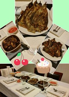 Pork chop, tortang talong & paksiw na pata for dinner....