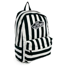 76c4f5c535 Vans Realm Backpack in Stripe at asos.com