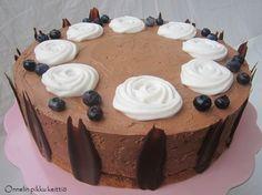 Mustikkainen suklaahyydykekakku (gluteeniton ja maidoton)
