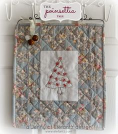 """Day 5 - Holiday Hostess Table Topper tutorial! The final reveal of the second completed project. """"The Poinsettia Tree"""". This was a free design and tutorial so come along and play!"""