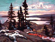 Above Lake Superior Lawren Harris, Canadian Group of Seven Group Of Seven Artists, Group Of Seven Paintings, Tom Thomson, Canadian Painters, Canadian Artists, Landscape Art, Landscape Paintings, Landscapes, Ontario