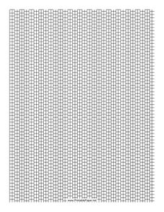This 2 Cylinder Bead Peyote Pattern beadwork layout graph paper features cylindrical beads in a two-row peyote pattern. Free to download and print