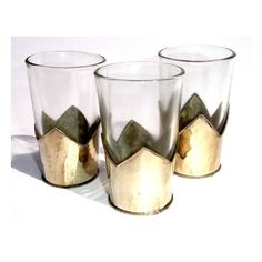 Moroccan tea glasses: moroccan tea cups, moroccan decoration tea... ❤ liked on Polyvore