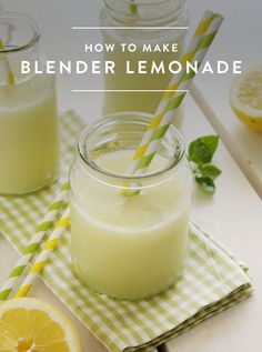 Ready to Have Your Mind Blown? Meet Blender Lemonade via @PureWow - Hmm, I'll have to see how this one tastes.