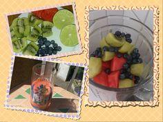 Smoothie time  Wassermelonen, Heidelbeer. Kiwi Smoothie Kiwi Smoothie, Healthy Food, Healthy Recipes, Fruit Salad, Watermelon, Health Recipes, Healthy Food Recipes, Healthy Foods, Fruit Salads