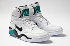 Nike Air Force 180 High - White / Teal - Grey