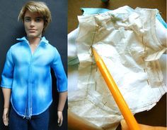 A silk shirt for her and a Yohji inspired cotton shirt for him .   Whether it's for the Ken doll or just for Barbie, nothing is more quint...