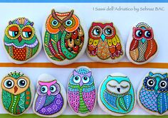 Today i took some photos for my new #owls just for fun #paintedstones #isassidelladriatico
