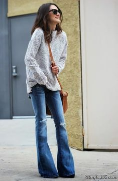 Currently what I have in my assemblage is a beautiful post of How To Wear Flared Jeans. It's officially, flared jeans are back in style. This time I want to Flare Jeans Outfit, Flare Leg Jeans, Skinny Jeans, Winter Outfits, Jeans Outfit Winter, Mode Outfits, Jean Outfits, Casual Outfits, Palazzo