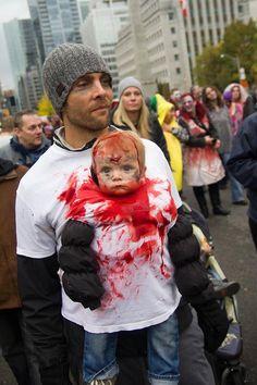 Disfraz para bebé en Halloween - Walking dead zombi 2