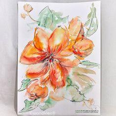 Blumen auf schwere Wege streuen.  #Bluemchenfuerdarksun und @VolkerGoebbels .  Und für so viele andere. Und ein wenig auch für mich selbst. . . (dieses Bild ist nicht mehr zu haben)  #wandklex #malerei #handgemalt #aquarell #hahnemühle #kunst #art #watercolor #watercolour #lily #lilie #phantasia #feldblume #garden #gardening #blume #garten #stilleben #blumen #flower #florals #blossoms #etsygifts #etsyfinds #etsyfindes #etsyseller wandklex.etsy.com #stillife