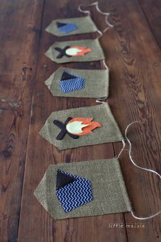 Chevron Camping Burlap Banner, Navy, Campfire, Tent, Birthday party by LittleMaisie on Etsy https://www.etsy.com/listing/197557607/chevron-camping-burlap-banner-navy