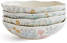 Dorotea 5218925 Hand Painted Soup/Cereal Bowl, 7.25-Inch, Set of 4 - Simple Shopping Lifestyles