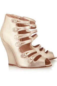 OSCAR DE LA RENTA ///  Dakota leather ankle boots