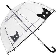 i need this for el niño too! Peek-a-Boo Clear Dome Umbrella - Black Cat - Brolliesgalore Cat Umbrella, Dome Umbrella, Bubble Umbrella, Under My Umbrella, Birdcage Umbrella, Cat Lover Gifts, Cat Gifts, Gifts For Cats, Crazy Cat Lady