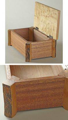 woodworking – Keepsake box made with naturaledge cherry legs mahogany sides and bird'seye woodworking woodworking box - Holzbearbeitung Woodworking Keepsake Box, Woodworking Box, Woodworking Projects, Youtube Woodworking, Woodworking Machinery, Woodworking Workshop, Small Wooden Boxes, Wooden Jewelry Boxes, Wood Boxes