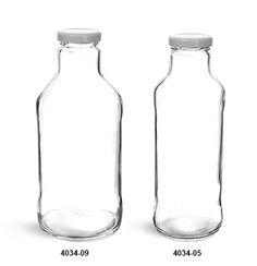 SKS Bottle & Packaging - Glass Bottles, Clear Glass Tall Sauce/ Beverage Bottles w/ White Metal Plastisol Lined Lug Caps Bottles And Jars, Glass Bottles, Wedding Favours Bottles, Kombucha Bottles, Flint Glass, Bottle Packaging, Body Lotions, Skin Cream, Face Wash