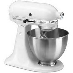 White Kitchen Aid stand mixer