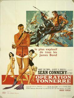 Vintage James Bond movie poster.