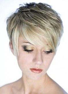Wispy and Short Layered Hairstyles with Wispy Side Swept Bangs