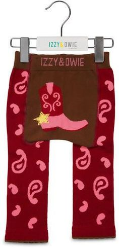 Red and Pink Cowgirl Leggings Baby Leggings Izzy & Owie- GigglesGear.com - 1