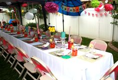 My sister threw me this outdoor Baby Shower!