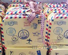 Μπομπονιέρα βαλιτσάκι Airmail