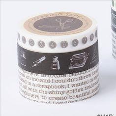 washi tape - typewriter style