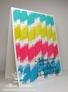 nice people STAMP!: Undefined - Hand Carved Ikat Stamp - Brights Glam Card - Stampin' Up! by Allison Okamitsu