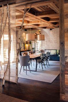 Refuge - architecture d'intérieur Designs a Cozy Cabin in Megève, France