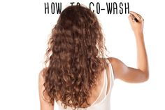 "A treat for tresses: Homemade customized formulas and co-washing help hair get its moisture and shine back (saves for ""healthy hair tips"" Co Washing Curly Hair, Shampoo For Curly Hair, Curly Hair Care, Curly Hair Styles, Natural Hair Styles, Natural Curls, 3a Curls, 3a Hair, Healthy Hair Tips"