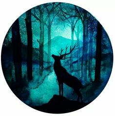 Ilustraciones Diy Crafts For Home american girl diy crafts home made Galaxy Painting, Galaxy Art, Vinyl Record Art, Vinyl Art, Silhouette Painting, Deer Art, Circle Art, Wow Art, Art Inspo
