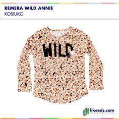 Remera Wild de Kosiuko #Moda #Nenas Para ver talles y comprar ¡Hacé click en la imagen!