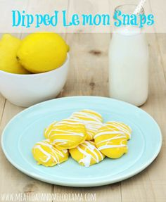easy dipped lemon snaps