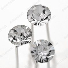 10pcs Faceted Clear Crystal Girl Party Wedding Hairpin Hair Jewelry