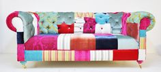 RESERVED LISTING for ROSIE chesterfield patchwork sofa