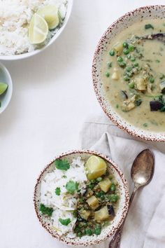 Thai Green Curry with Coconut White Rice
